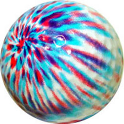 White Tie Dye Golf Ball