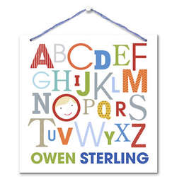 Boy's Personalized ABCs For Me Wall Hanging