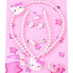 Children's Kitty Beaded Jewelry Set
