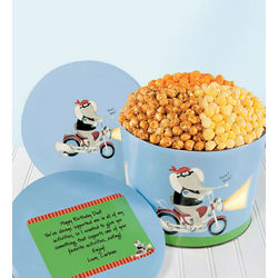Motorcycle Fun 3-Flavor Popcorn Tin