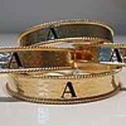 Hammered Personalized Gold Plate Initial Cuff