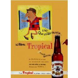 Cerveza Tropical Vintage Cuban Ad