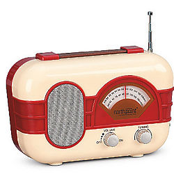 Vintage Style AM/FM Radio with Auxiliary Input