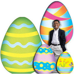 Colorful Easter Egg Standee Set