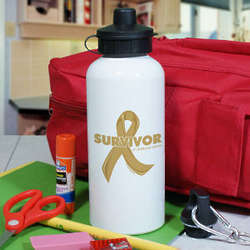 Personalized Childhood Cancer Survivor Water Bottle