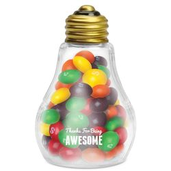 Thanks for Being Awesome Light Bulb with Skittles