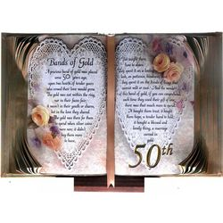 Bands of Gold 50th Wedding Anniversary Keepsake Book of Love