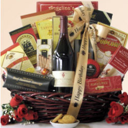 Hang Time Pinot Noir Men's Birthday Wine Gift Basket