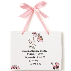Personalized Birth Certificate Plaque