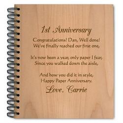Anniversary Rose Wooden Photo Album