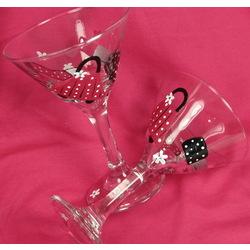 Personalized Bridesmaid Martini Glass