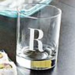 Personalized Initial Short Glassware Set