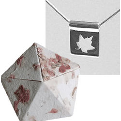 Sterling Silver Leaf Pendant in Paper Anniversary Origami Box