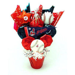 Cleveland Indians Cookie Pot Bouquet