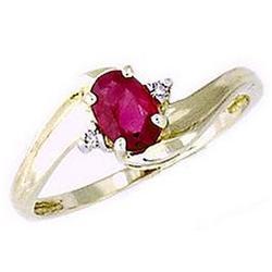 Ruby Gemstone and Diamond Wave Ring