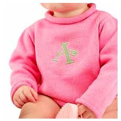 Baby Girl's Personalized Monogram Sweater