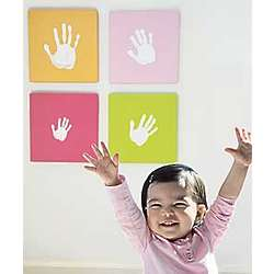 Pink Handprint Wall Art Set