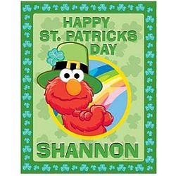 Personalized Elmo Saint Patrick's Day Puzzle