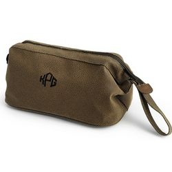 Brown Dopp Toiletry Bag