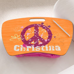 Personalized Peace Lap Desk for Girls