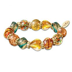 Thomas Kinkade's Venice-Inspired Artisan Glass Bead Bracelet