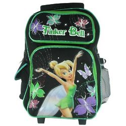 Tinkerbell Rolling Backpack and Water Bottle