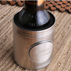 Koozie with Personalized Pewter Medallion