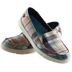 Playful Plaid Slip-Ons