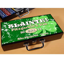 Jolly Green Shamrock Personalized Poker Set