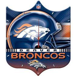 Denver Broncos Shield Clock