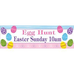 Easter Eggs 24x72 Personalized Self Adhesive Vinyl Banner