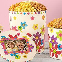 Spring Floral Popcorn Tin