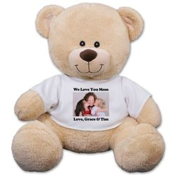 Custom Photo Sherman Teddy Bear