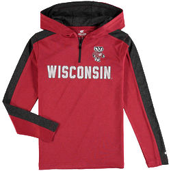 Youth's Wisconsin Badgers Hooded Shirt