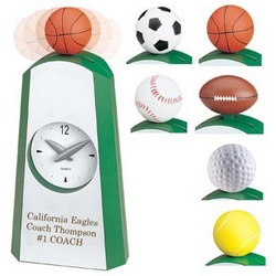 Swinging Sports Ball Desk Clock