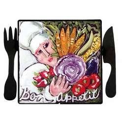 Bon Appetit Art Plaque