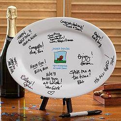 Personalized Retirement Signature Platter