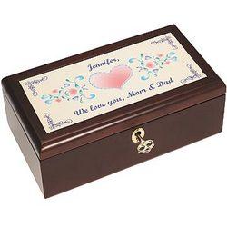 Personalized Heart Keepsake Box