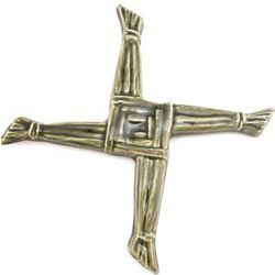St. Brigid's Green Ceramic Cross