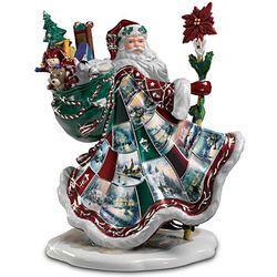 "Thomas Kinkade ""Santa's Holiday Best"" Porcelain Figurine"