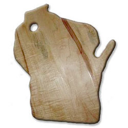 Small Wisconsin State Maple Cutting Board