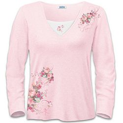 "Breast Cancer Support ""Blossoms Of Hope"" Women's Shirt"