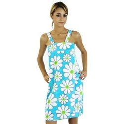 Women's Daisy-Print Terry Velour Shower Wrap