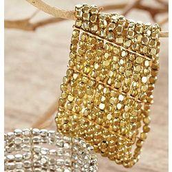 Gold Cleopatra Cuff Bracelet