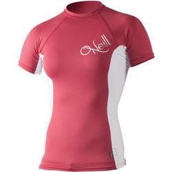 O'Neill Pink and White Rash Guard Swim Shirt