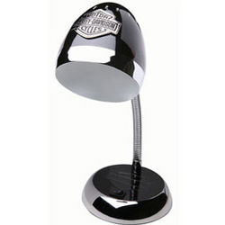 Harley-Davidson Black & Chrome Desk Lamp
