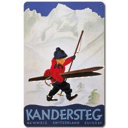 Kandersteg Metal Ski Sign
