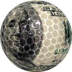 Money Print Golf Ball