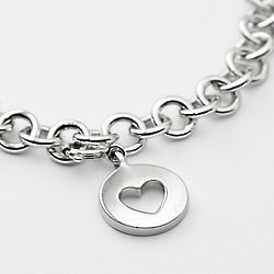 Sterling Silver Classic Charm Bracelet with Heart Charm