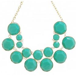 Designer Inspired Double Layer Teal Bubble Necklace